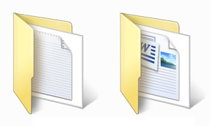 Folder and Document icons