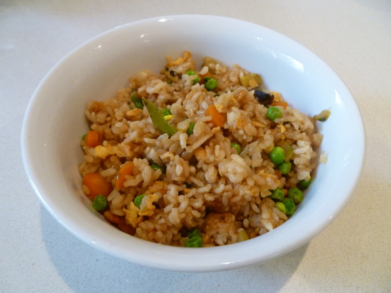 describe how to cook fried rice