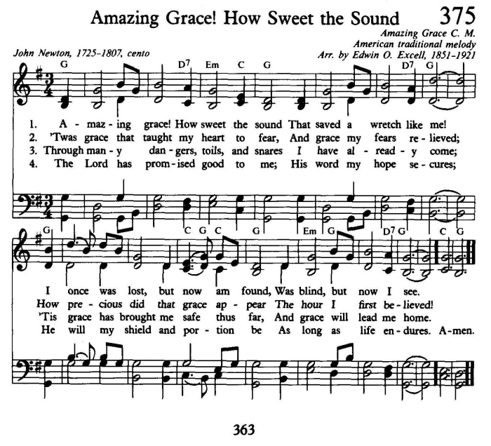 Amazing Grace Lyrics And Sheet Music: The Blog Of Charles