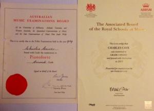Piano certificates